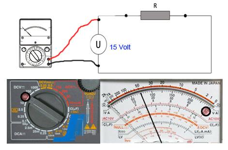 Multimeter Tegangan benar