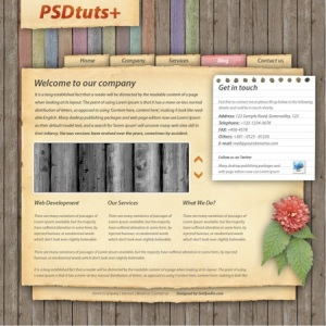 Download Photoshop Book Highly Textured Site Layout