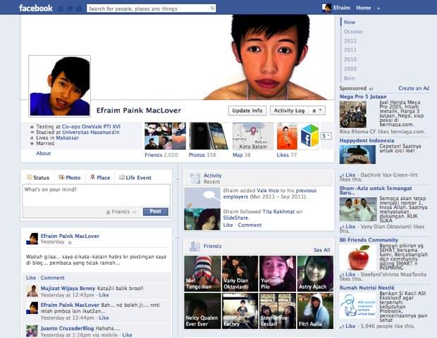 memberitahu cara untuk membuat facebook anda tampak seperti facebook