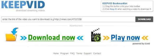 DOwnload video youtube via keepvid